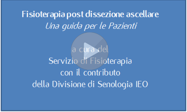 Fisioterapia post dissezione ascellare